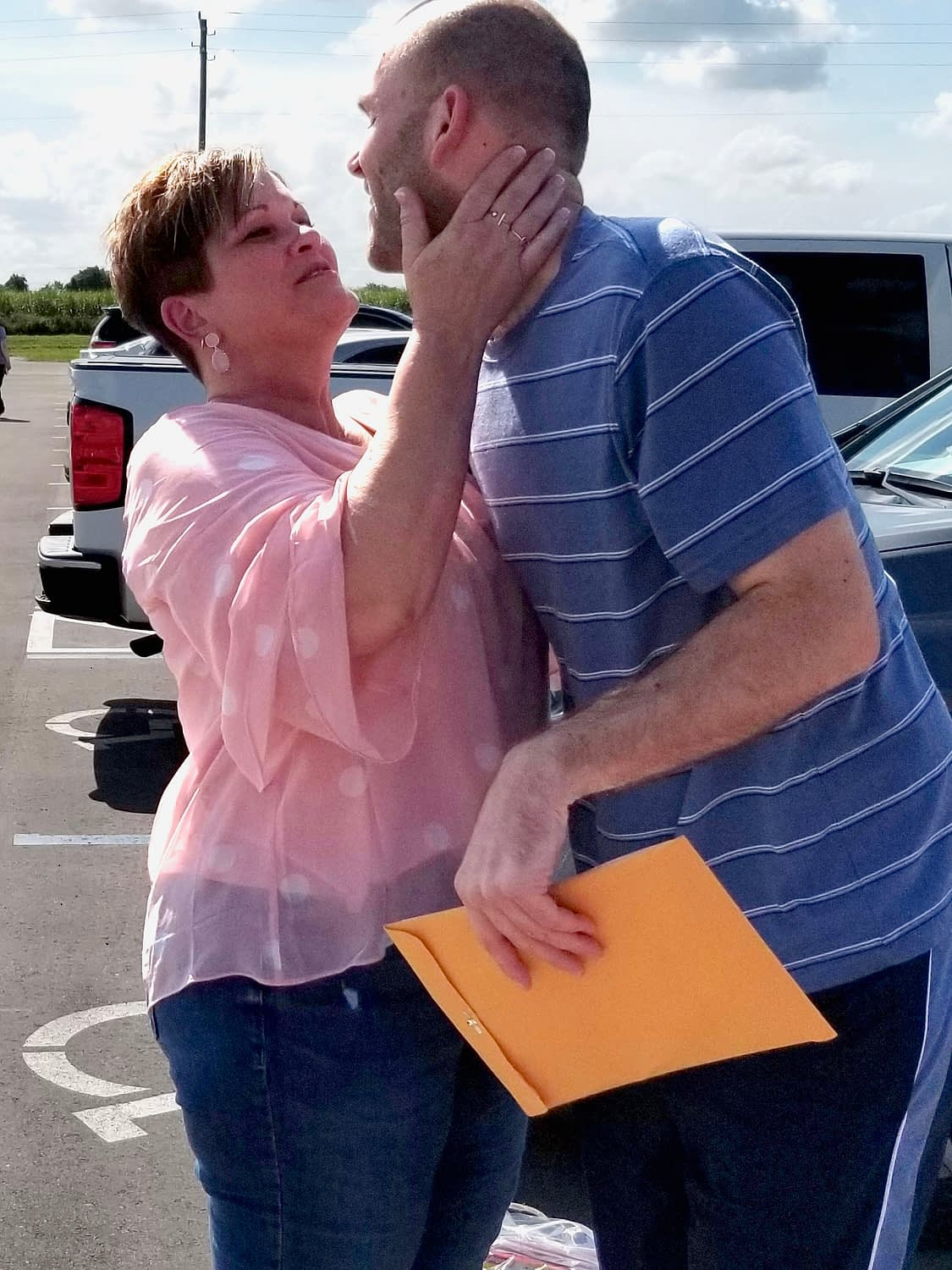 Linda and her son upon his release from incarceration.Part of our mission here at Restoration Destination is to help families with the stress of picking up their loved ones from the prisons.